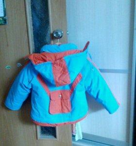 Пуховик зимний для мальчика 5-6лет