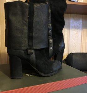Сапоги кожаные зимние Carnaby, 40 р, на меху