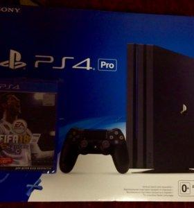 PlayStation 4 Pro (CUH-7008B)+FIFA 18 диск