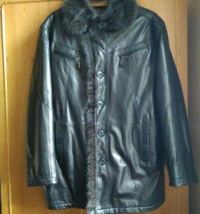 Зимняя куртка натуральная кожа,мех. Новая!!!