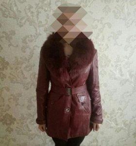 Куртка из пресованой кожи