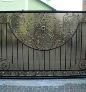 Ворота откатные. Ковка.