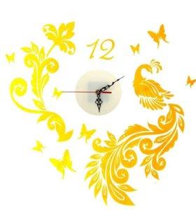 """Часы - наклейки на стену """"Жар-птица"""""""