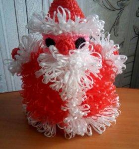 Детская мочалка Дед Мороз