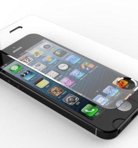 Защитное стекло для iPhone 5, iPhone 5 s