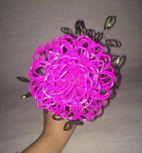 Цветок из рубки ручной работы