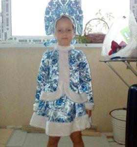 Новогодний костюм    «Снегурочка Гжель».