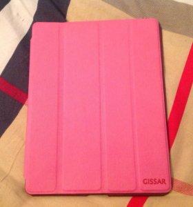 Чехол книжка для iPad розовая