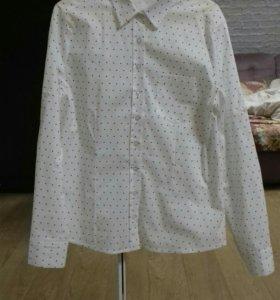 Рубашка блузка хлопковая со звездочками