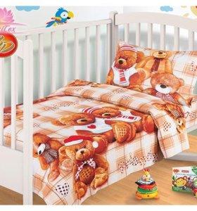 НОВЫЙ комплект детского белья в кроватку