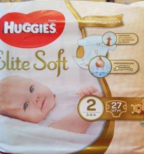 НЕВСКРЫТЫЕ упаковки подгузники Хаггис 2