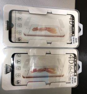 4D стекла и плёнки на Samsung S8