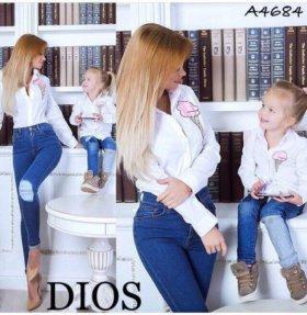 Рубашки мама+дочка
