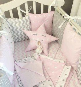 Бортики на кроватку