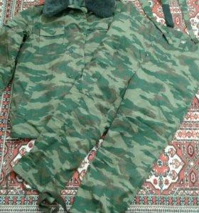 Комплект зимней войсковой одежды старого образца.