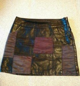 Кожаная юбка hm