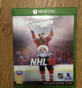 Диск на Xbox one NHL 16