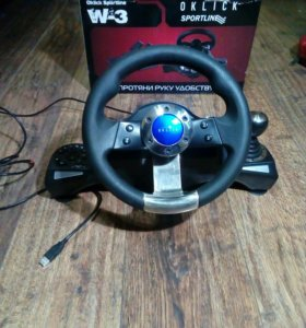 Гоночный руль для ПК Oklick sportLine w3