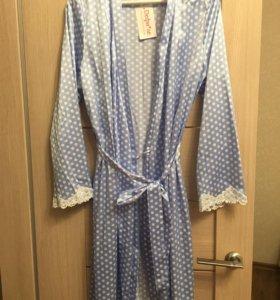 Шелковый домашний халат (Бюстье)