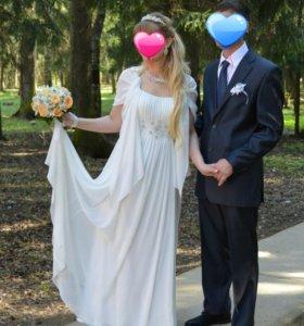 платье вечернее (венчальное или свадебное)