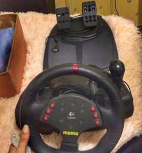 Руль с педалями для ПК и говорят на PS3 подходит !