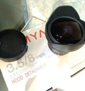 Samyang 8 mm/3.5 UMC Fish-eye CS II for Nikon