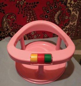 Сиденье для купания Полимербыт розовое