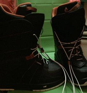 Сноубордические ботинки новые на 38-39 размер ноги