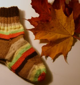 Носки вязаные шерстяные 18 - 20 см