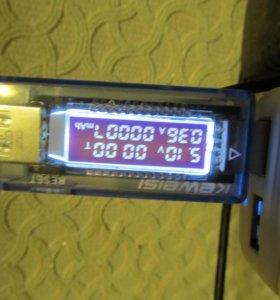 Цифровой проточный USB Ампер-Вольтметр