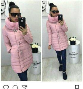 Куртка новые ,цвет розовый и синий .зима