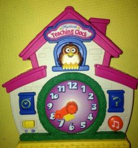 Часы обучающие домик с совой fisher-price