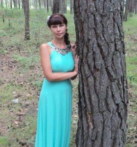 1 Платье берюзовое