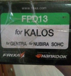 Передние тормозные колодки Aveo/Kalos t250/t255