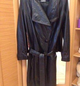 Плащ кожаный(пальто)