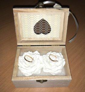 Свадебные аксессуары ,коробочка для колец