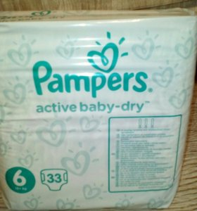 Pampers active baby dry 6 много