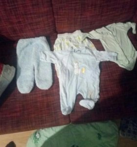 Детс вещи пакет с 0 до 6 примерно и теплые костюмы