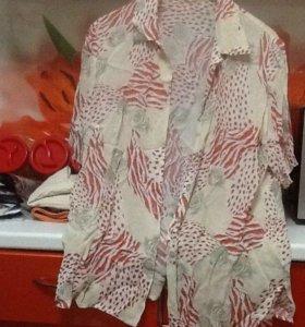 Блузка шифоновая размер 50-52