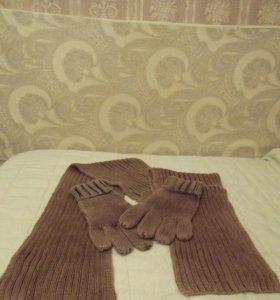 Комплект варежки и шарф SELA