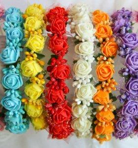 Ободки из искусственных цветов
