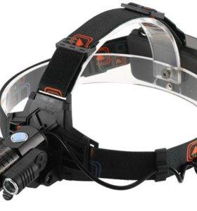 Налобный фонарь HL-8216 ZOOM с поворотными фарами.