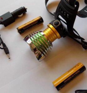 Мощный налобный фонарь Огонь H-385-T6
