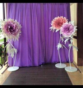 Цветы для декора, ростовые цветы, большие цветы