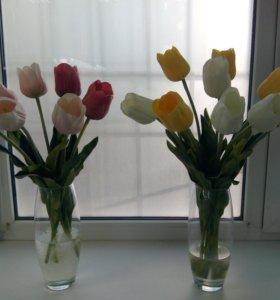 Тюльпаны искусственные.Топиарии.Букеты