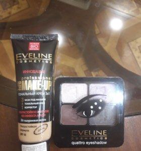 Тональный крем 3 в 1 (+ тени для век) Eveline