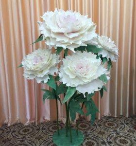 Цветы ростовые для свадьбы, фотозоны