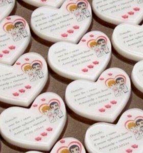 Бонбоньерки,красивые нежные мыльные подарочки