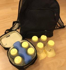 Рюкзак Medela для переноски грудного молока+8 бут