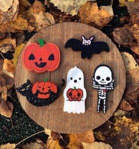 Halloween Деревянные значки